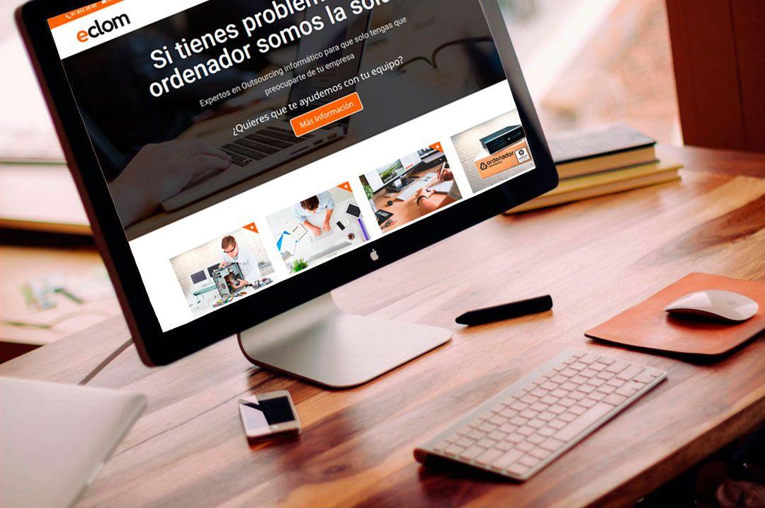 Eclom Services web diseñada por Brandevs
