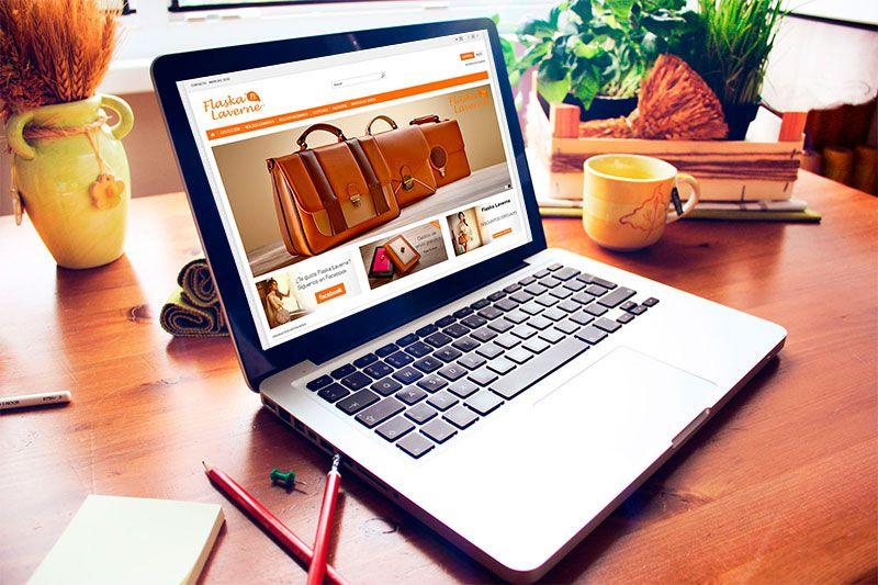 Flaska Laverne web diseñada por Brandevs