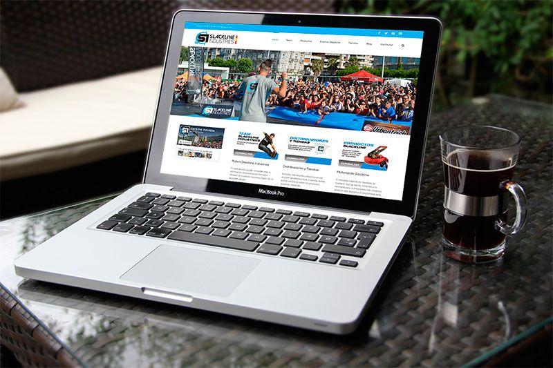 Slackline Industries Spain web diseñada por Brandevs