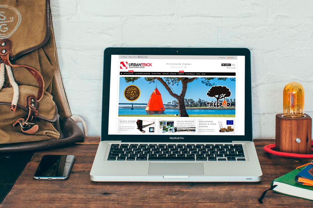 Urbantrick Slackline web diseñada por Brandevs