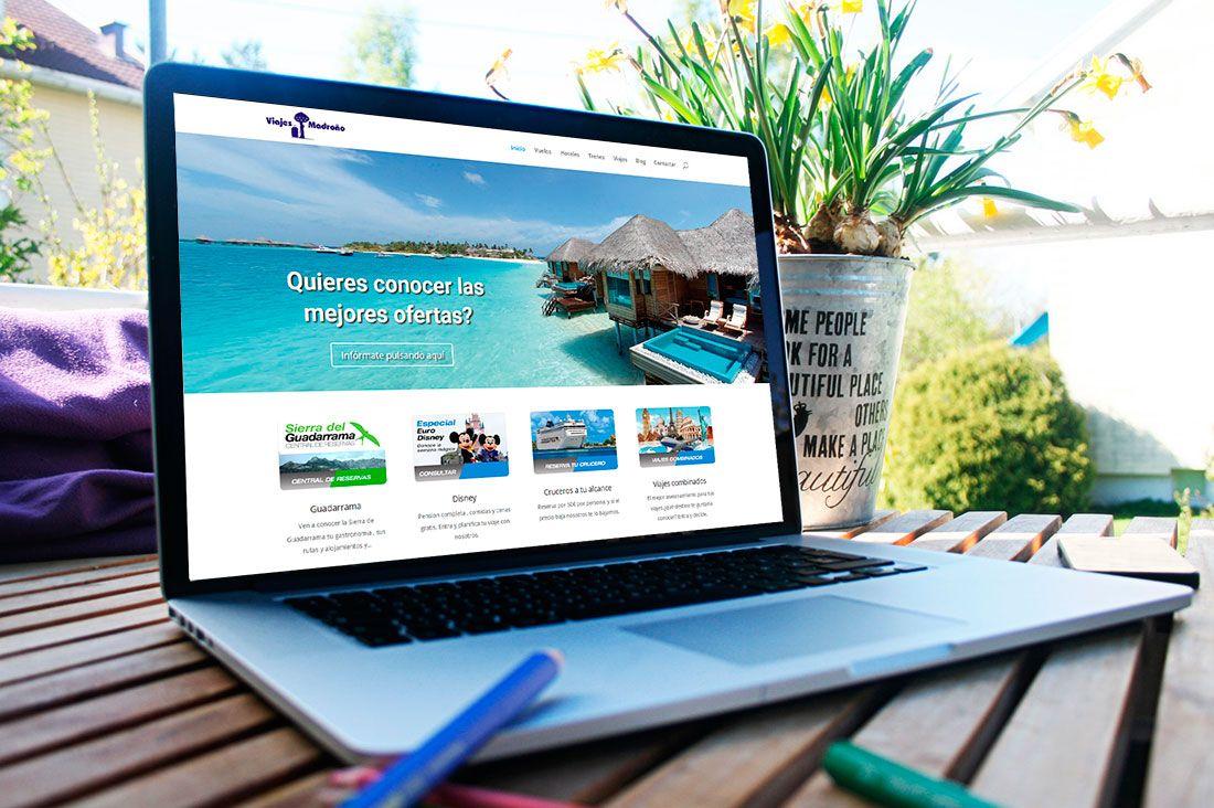 Viajes Madroño web diseñada por Brandevs