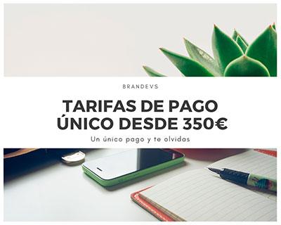 Tarifas de pago único de Diseño web Brandevs