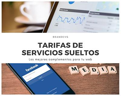 Tarifas servicios sueltos de Diseño web Brandevs