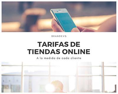 Tarifas tiendas online Diseño web Brandevs